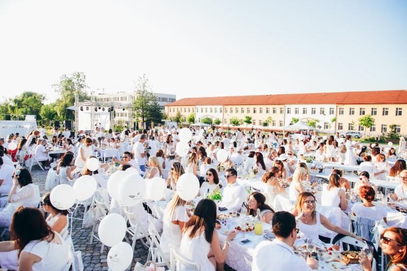 White dinner in Sofia