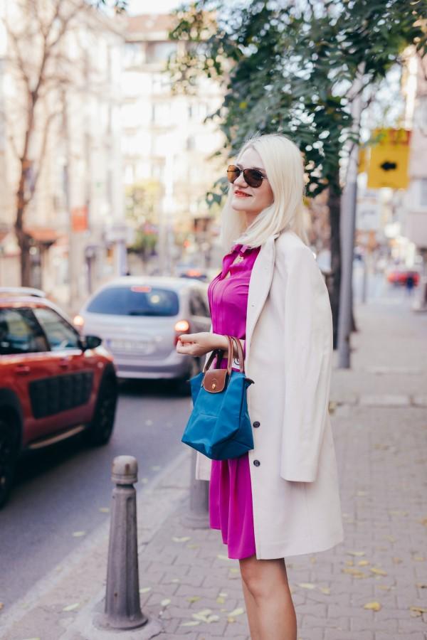 Remixshop аутлет стайлинг идея с копринена рокля и вълнено палто