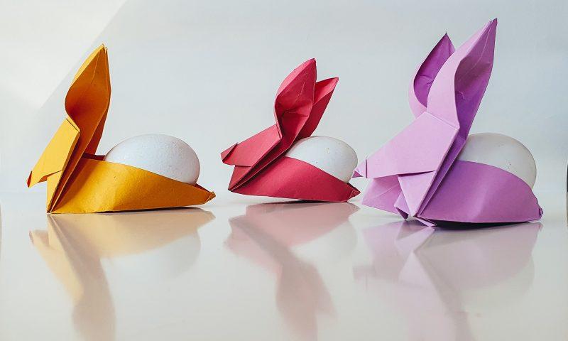 Зайчета за яйца - лесна Великденска декорация