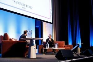 Salon du luxe Styleinspiratrice - discussion avec Richard Orlinski